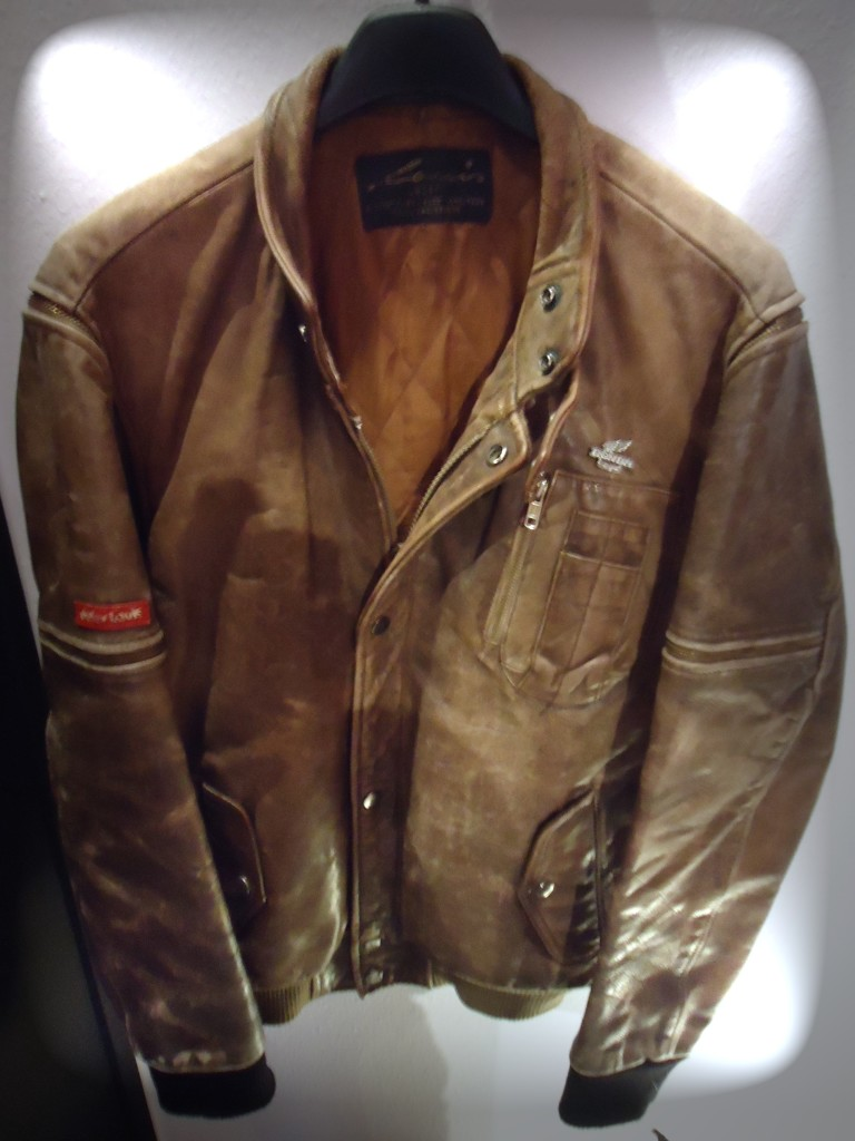 Giacca in pelle uomo vintage
